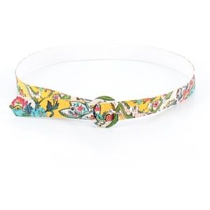 •UNBRANDED•Yellow Floral Printed Belt•Size S•